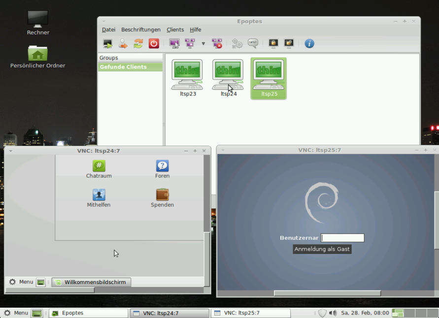 Linux Mint LMDE Server Setup #3: Epoptes for LTSP | m