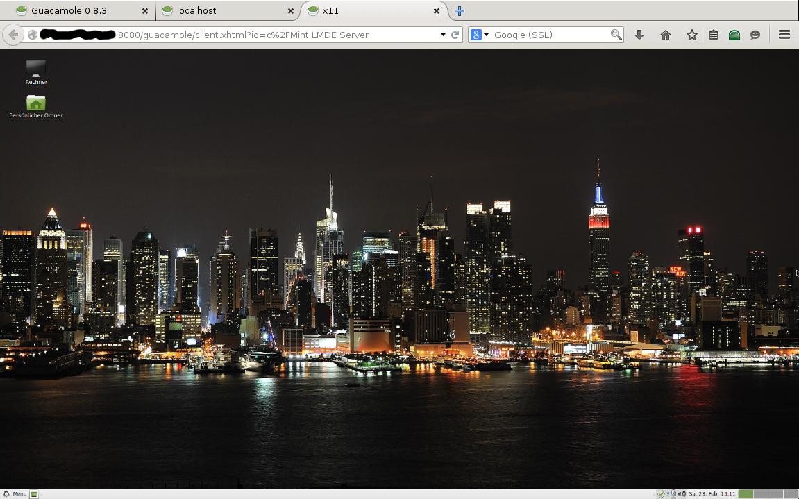 Linux Mint LMDE Server Setup #4: Guacamole Remote Desktop